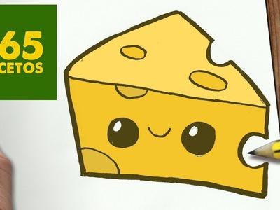 COMO DIBUJAR QUESO KAWAII PASO A PASO - Dibujos kawaii faciles - How to draw a Cheese