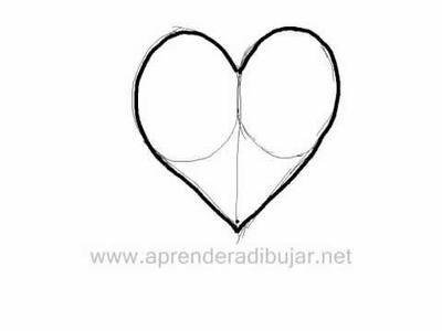 Como dibujar un corazon - Dibujos de amor