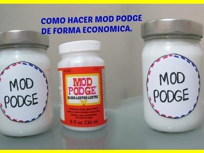 COMO HACER MOD PODGE HECHO EN CASA CON BOTE RECICLADO