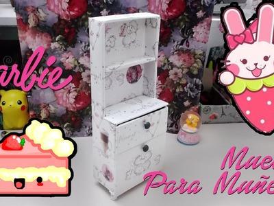 Como hacer MUEBLE para MUÑECAS. Barbie , Monster High
