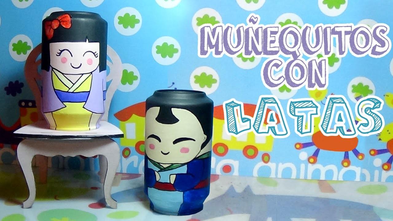 Cómo hacer muñecos con latas recicladas - Candy Bu