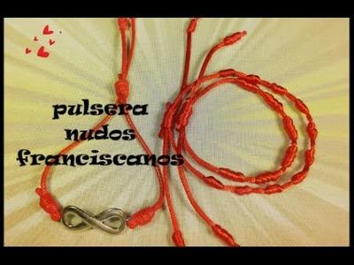 Como hacer pulseras de nudos franciscanos, bracelets