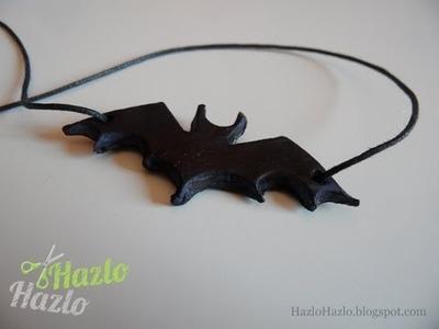 Cómo hacer un colgante murciélago.
