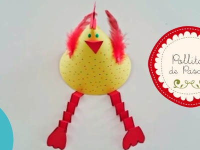 Cómo hacer un pollito de Pascua. Manualidades de Pascua para niños.
