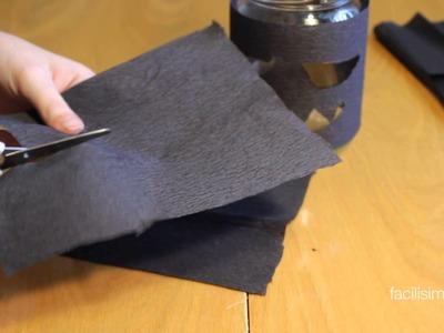 Cómo hacer un portavelas con forma de murciélago | facilisimo.com