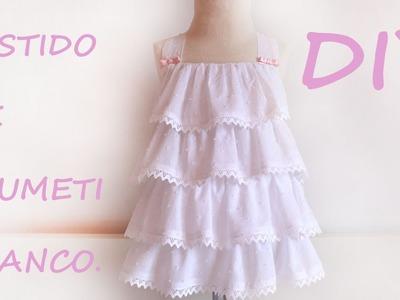 Como hacer un vestido de plumeti para niña.