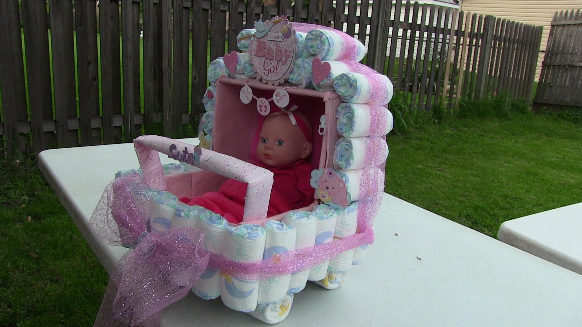 Como hacer una Carriola de pañales para Baby Shower