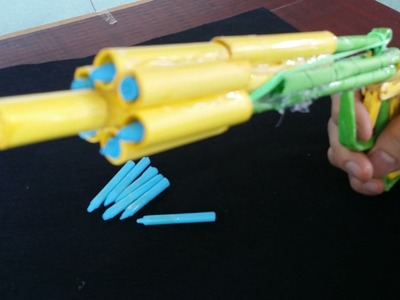 Cómo hacer una pistola de papel que dispara | 6 balas | Con el gatillo