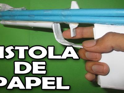 Como hacer una pistola de papel que dispara