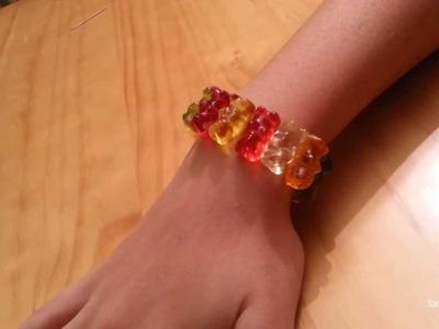 Cómo hacer una pulsera con ositos de gominola | facilisimo.com