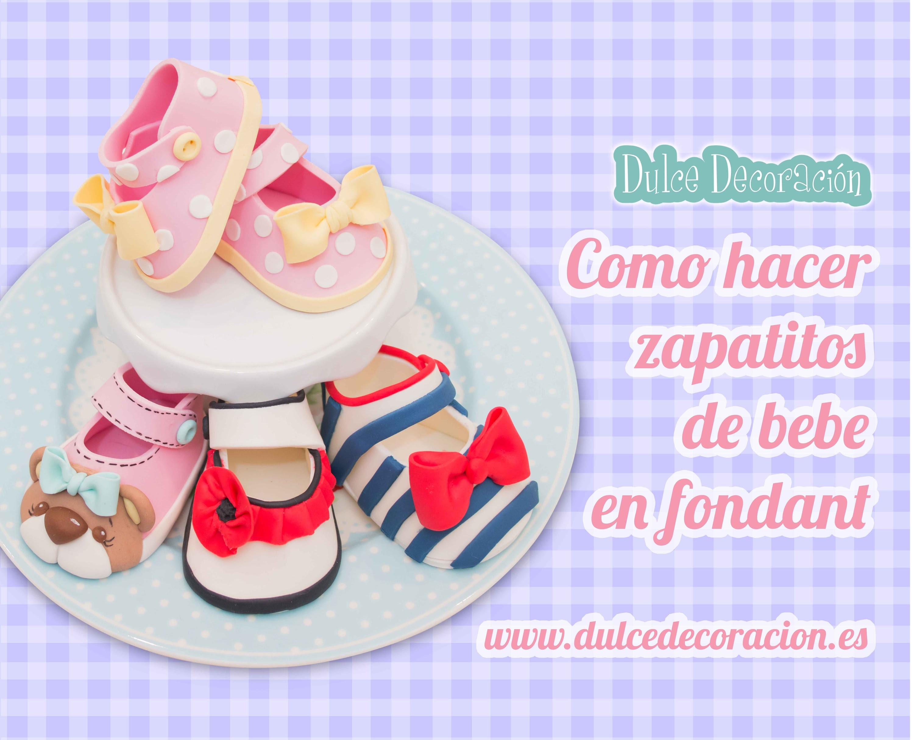 Como hacer zapatos de bebé en fondant . how to make baby girl shoes
