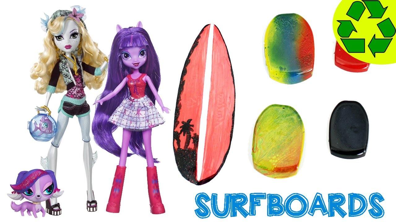 Cómo una tabla de Surf para tus muñecas - Manualidades para  muñecas