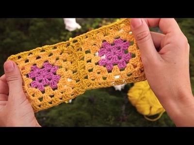 Cómo unir cuadrados de ganchillo | How to join granny squares