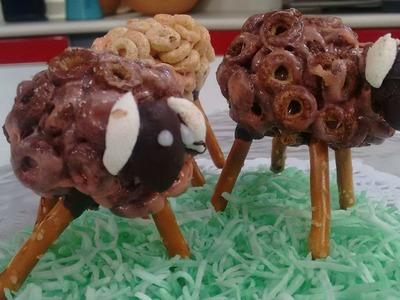 Diviértete haciendo unos borregos con cheerios. Recetas para el día del niño