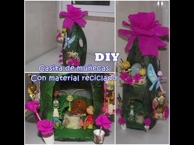 DIY CASITA DE MUÑECAS (Con frasco reciclado)
