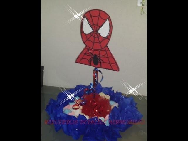 DIY como hacer  Centro De Mesa Hombre araña