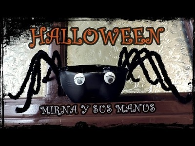 DIY Decoracion para halloween Reciclando . Halloween decoration Reciclando