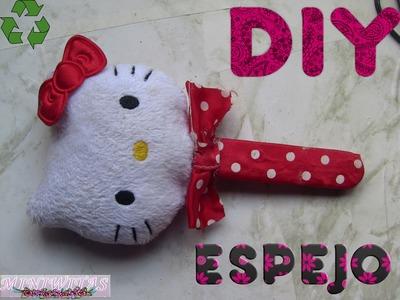 DIY: ESPEJO HELLO KITTY.DIY:HELLO KITTY MIRROR