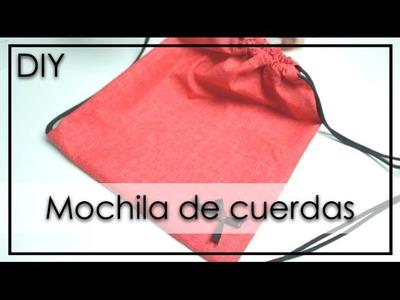 DIY - Mochila de cuerdas FÁCIL | OliPoli