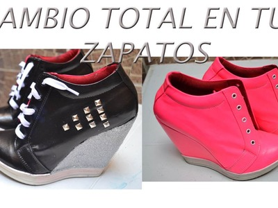 DIY- RENOVAR TUS ZAPATOS VIEJOS - Customize shoes