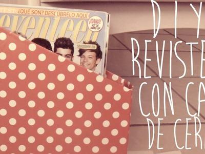 DIY♥REVISTERO CON CAJA DE CEREAL