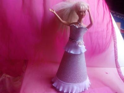 Diy Vestido de fiesta  para muñecas de goma eva 2