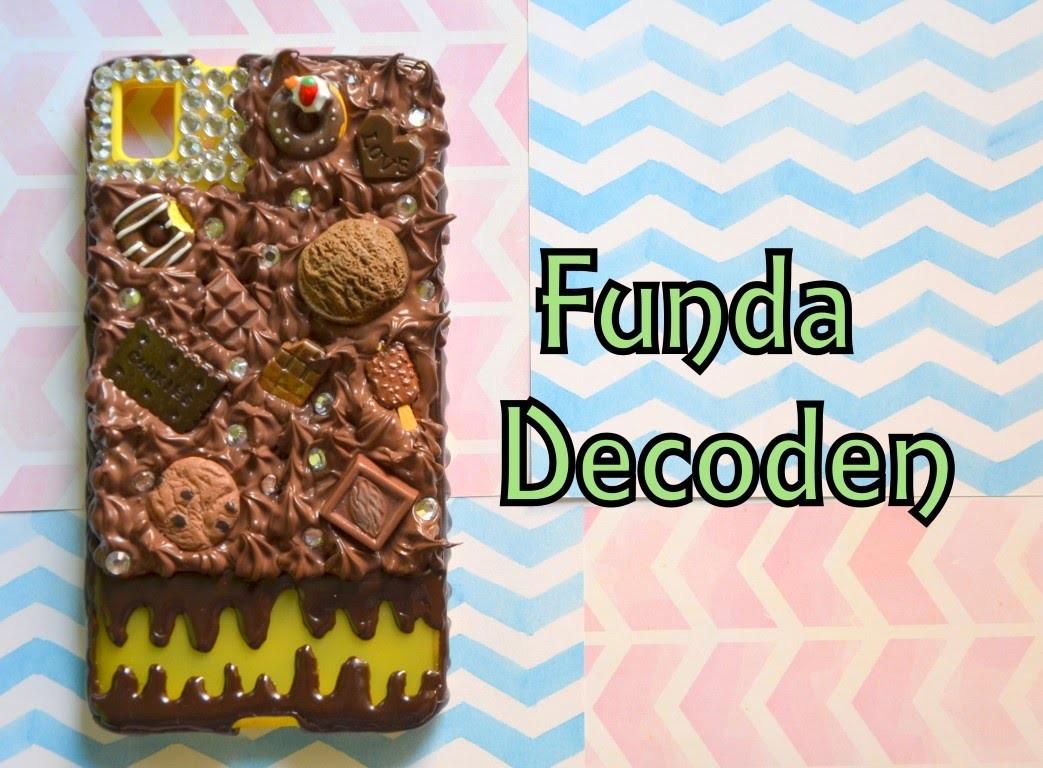 Funda decorada con la técnica Decoden (Nueva formula)