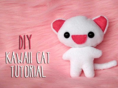 How to make a cute cat plushie! Cómo hacer un peluche de gato!