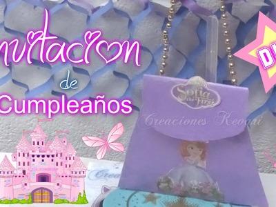 Invitacion de Cumpleaños de la Princesa Sofia