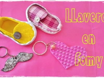 Llaveros en fomy (microporoso,goma eva) Superr fácil y rápido.