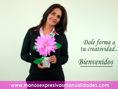 Manos Expresivas - Flor Papel Margarita 1
