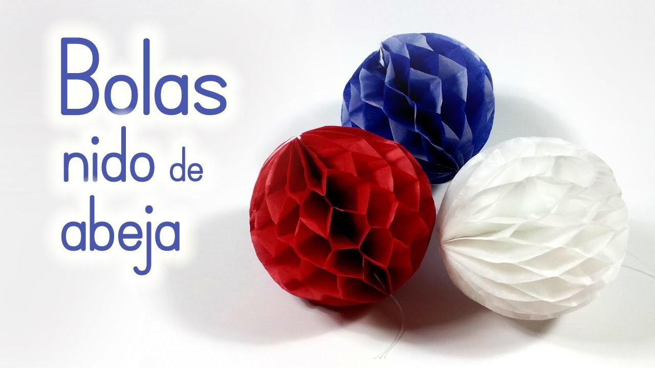 Manualidades: BOLAS (pompones) de Nido de Abeja para DECORAR - Innova Manualidades