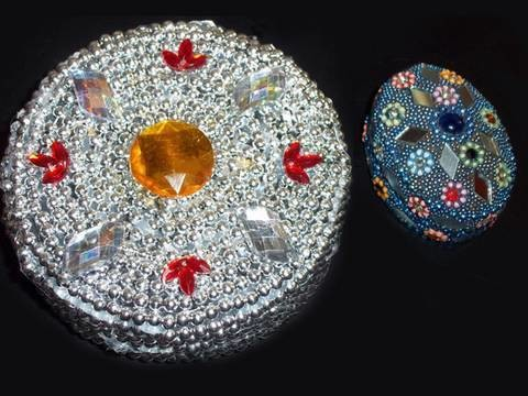 Manualidades para adolecentes: Cofre de Joyas reciclado con inspiración Turca