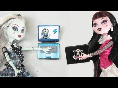 Manualidades para muñecas: Haz  un laptop o computadora para tus muñecas
