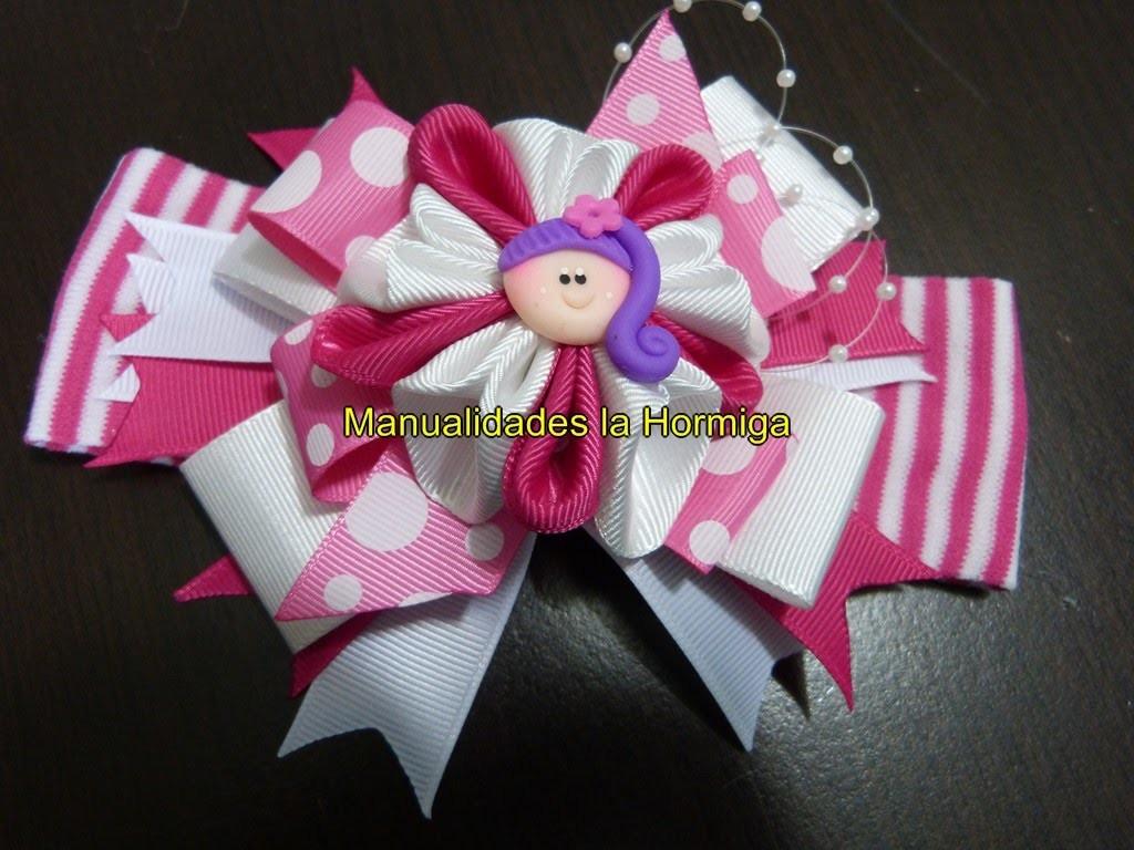 Nuevos modelos de moños y flores para decorar accesorios para el cabello paso a paso