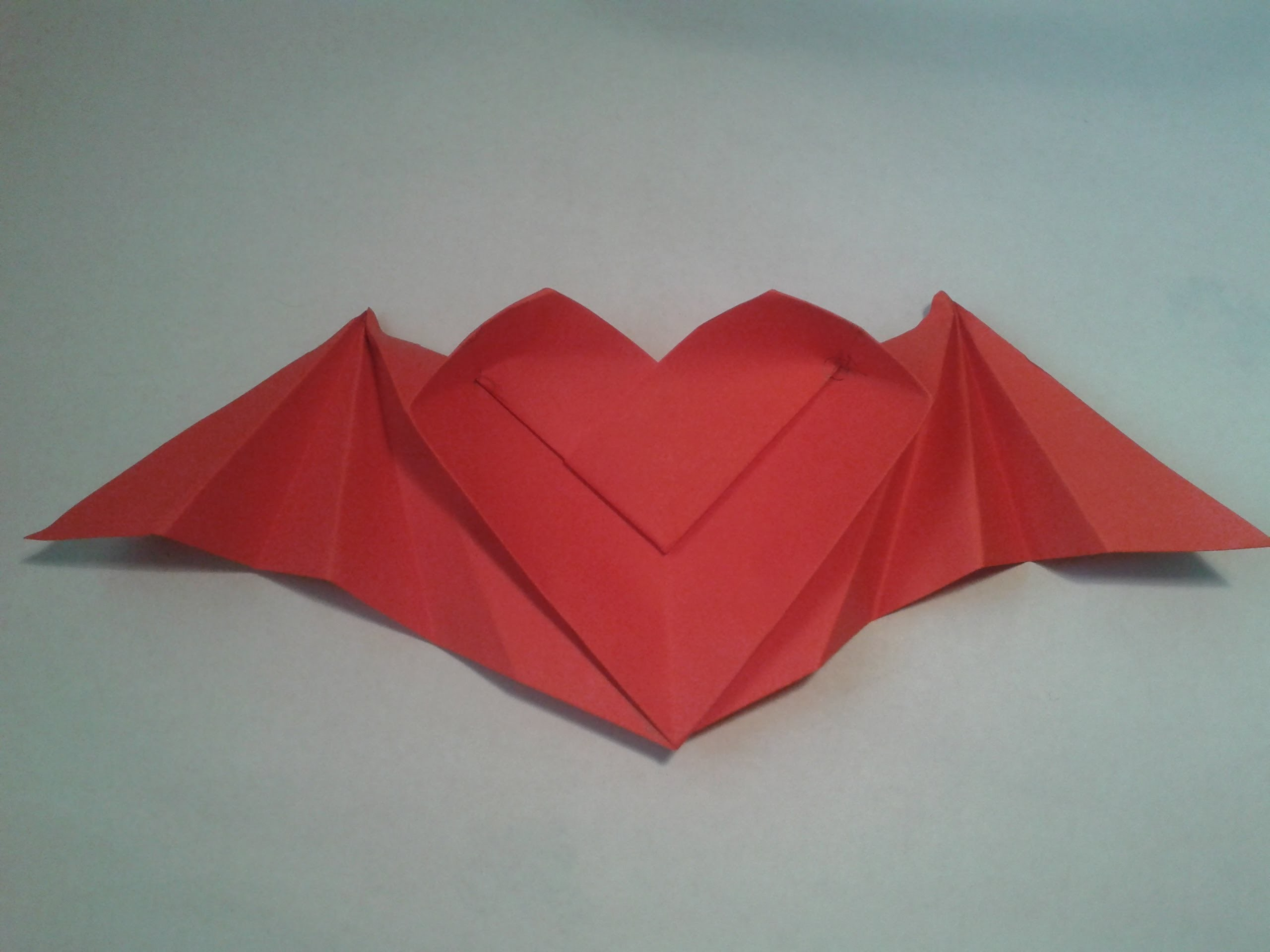 Origami - How to make a winged heart (origami instructions)