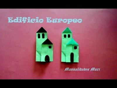 Origami - Papiroflexia. Edificio estilo europeo, muy fácil