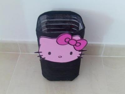 Papelera reciclada Hello Kitty