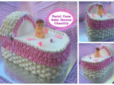 Pastel De  Cuna Paso a Paso Para Baby Shower