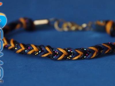 Pulsera de hilo trenzado (4 hilos)