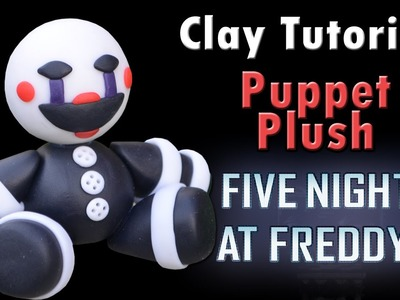 Puppet Plush Version Five Nights at Freddy's Tutorial Porcelana fria. Cold porcelain