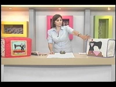 Sonia Franco. Programa Nuestra Casa. Cubre Máquina con aplicaciones 2.5