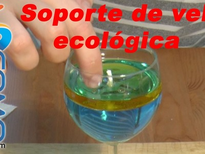 Soporte de una vela de agua y aceite vegetal