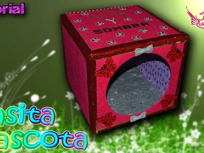 ♥ Tutorial: Casita para mascotas de cartón reciclado ♥