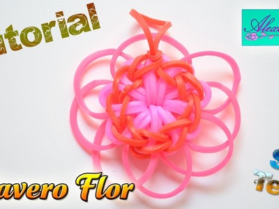 ♥ Tutorial: Llavero Flor de gomitas (sin telar) ♥