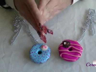 Tutorial paso a paso,como hacer collares de donuts