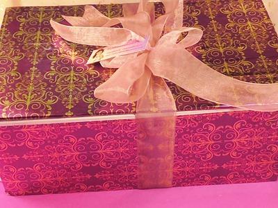 Caja de carton reciclada ,manualilolis, video- 83