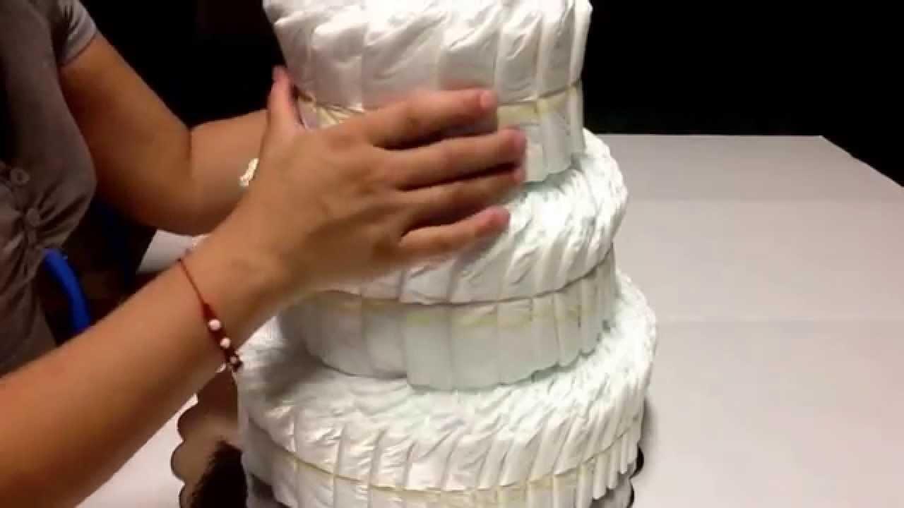 Como hacer un pastel de pañales