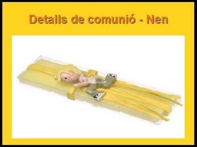 Detalls de comunió (nen) - Detalles de comunión (niño)