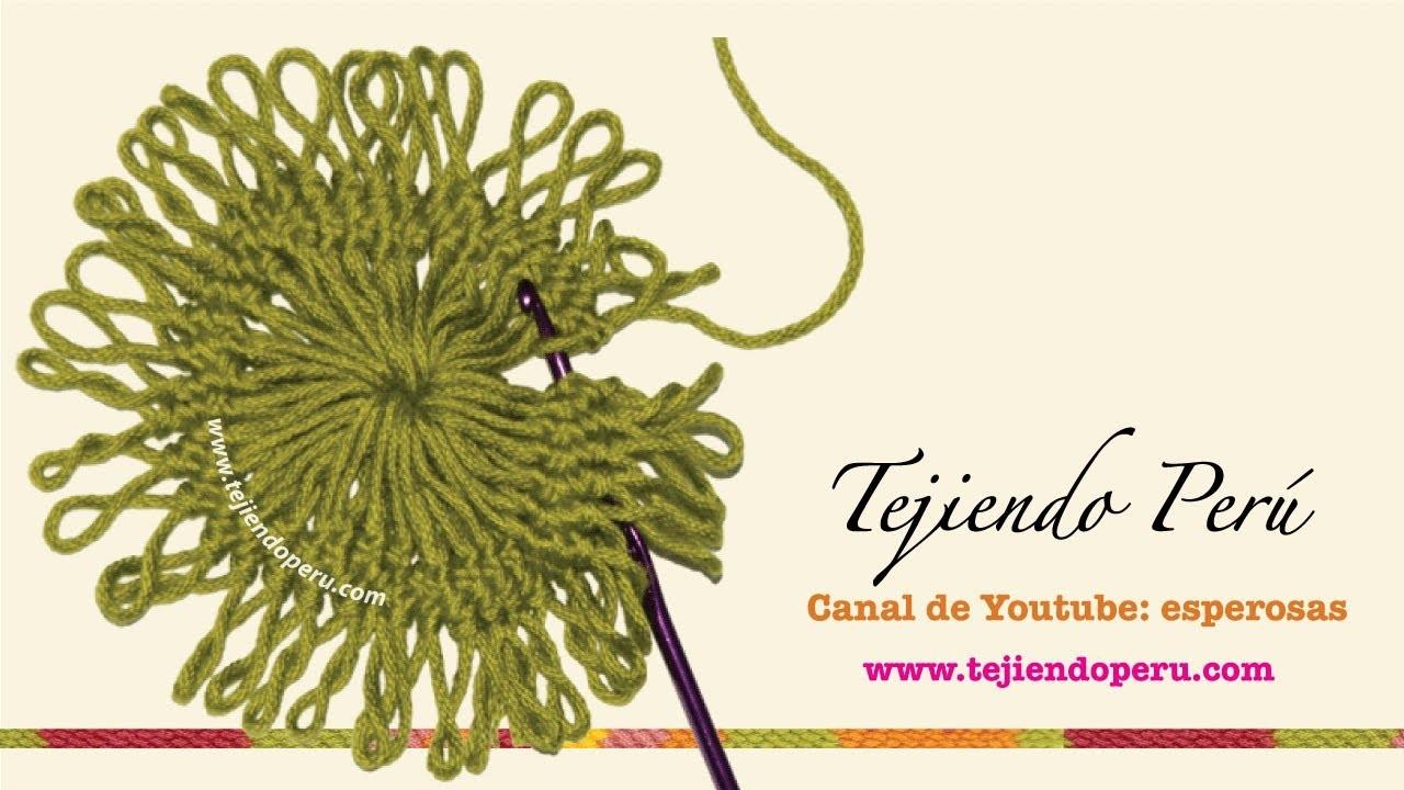 Horquilla (hairpin lace): técnica básica para tejer motivos circulares
